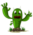 angry cactus vector image