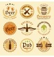 Colored Beer Emblem Set vector image