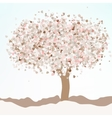 Floral greeting card EPS 8 vector image