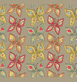 funny butterfly seamless summer texture vector image