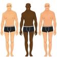 Male models vector image
