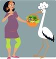 Pregnancy Diet vector image
