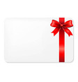 Red Bow And Blank Gift Tag vector image