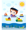 ship cartoon vector image