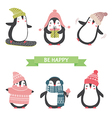 ute penguins set vector image