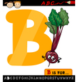 letter b with beet cartoon vector image vector image
