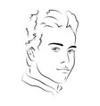 Face handsome man vector image