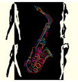 abstract jazz vector image
