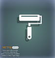Paint roller icon On the blue-green abstract vector image