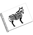 Notes with zebra in color 06 vector image