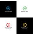 abstract circle with dots logo icon flat vector image
