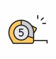 Construction roulette icon vector image