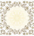 gold easter round frame vector image