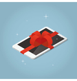 Isometric tablet present vector image