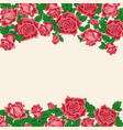 pattern of red roses vector image