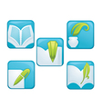 read and wright signs symbols and icons vector image