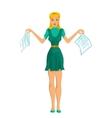 Secretary girl vector image