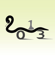 snake for 2013 year sign car vector image