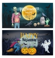 Scary comic design for Happy Halloween holidays vector image