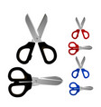 scissors set color icons object on white vector image