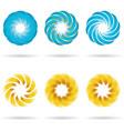 logo flower icon set vector image