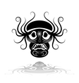 Black mask with reflection vector image vector image