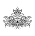Persian or indian paisley floral element vector image