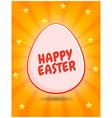 Happy Easter greetings vector image