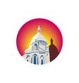 Catholic Church Dome Circle WPA vector image vector image