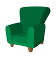 Green armchair cartoon icon vector image
