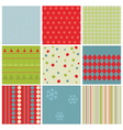 Christmas seamless backgrounds vector image