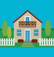 house flat design vector image