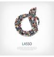 lasso people 3d vector image