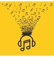 music entertainment line icon vector image