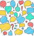 retro colored speech bubbles Empty bladder vector image