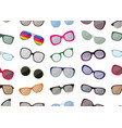 seamless pattern with sunglasses vector image