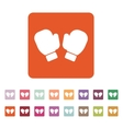 The boxing gloves icon Game symbol Flat vector image