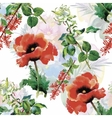 Watercolor of Tulips flowers vector image