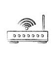 wifi router antenna vector image