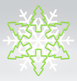 Wire snowflake christmas background vector image