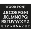 Wooden alphabet with letters and numbers vector image
