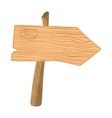 Wooden cartoon pointer vector image