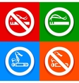 Stickers multicolored No smoking area labels vector image