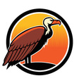 vulture bird mascot vector image