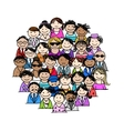 Group of people for your design vector image vector image