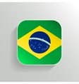 Button - Brazil Flag Icon vector image