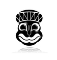 Black ethnic mask with reflection vector image