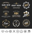 Collection of 9 Beer Logos vector image