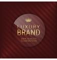 Luxury brand glass label vector image