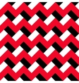 Chevron Red Black Pattern vector image